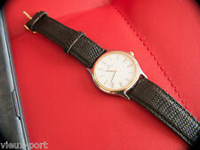 + JAEGER LeCOULTRE - HERAION, 18KT GOLD BEZEL with Leather-croco band wristwatch