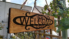 Welcome Door Signs House Shop Garden Wooden Plaque Solid wood Porch Conservatory