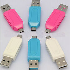 Micro USB OTG to USB 2.0 Adapter SD/Micro SD Card Reader For Smartphones/PC 2016
