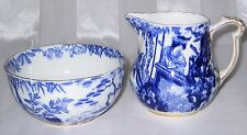 Royal Crown Derby - Blue Mikado - Small Cream & Sugar