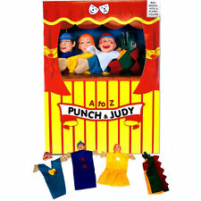Punch & Judy Hand Puppet Theatre Show Box Jester & Snap Childrens Box Stand