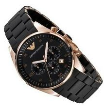 EMPORIO ARMANI MEN'S CHRONO WATCH AR5905  -  BRAND NEW WITH CERTIFICATE