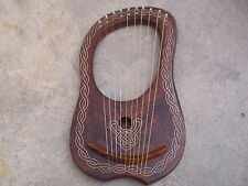 New Rosewood Lyre Harp 10 Strings with Tunning Key Free Carrying Case/Lyra harp
