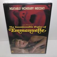 THE INCONFESSABLE ORGIES OF EMMANUELLE BRAND NEW (DVD) SLEAZE EROTIC CULT OOP