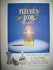 PUBLICITE DE PRESSE LANCOME PARFUM FLECHES D'OR FLACONS FRENCH AD 1959