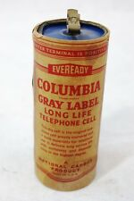 EVEREADY TELEPHONE DRY CELL BATTERY ORIGINAL COLUMBIA TELEPHONES 1950'S