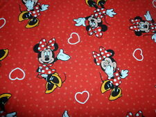 Disney Minnie Mouse 100% Cotton Fabric Material Sold by HALF METRE