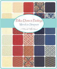 "Polka Dots & Paisleys  Moda 2 CHARM PACKS  Quilt Fabric 84 squares  5"""
