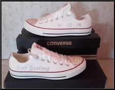 Handmade Crystal Bling Converse Chaussures Personnalisé Mariage Bal poule