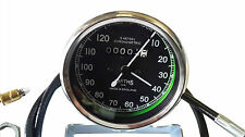 SMITHS 0-120M BLACK SPEEDOMETER WITH CABLE ROYAL ENFIELD, BSA, NORTON