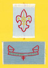 SCOUTS OF PERU - BOY SCOUT 1st & 2nd CLASS Rank Award Patch SET