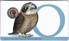 2015 Alphabet Coin Series - Owl - $1 Coloured Frosted Coin