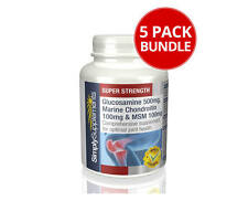 Glucosamine, Chondroitin & MSM 120 Tablets | 5 Pots Bundle Pack (5x120)