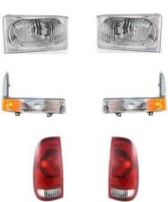 Ford Super Duty Truck Headlights Signal Lamps Tail Lamps 1999-2004 Set Of 6