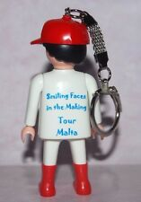 PLAYMOBIL LLAVERO SPECIAL SMILING FACES IN THE MAKING TOUR MALTA  KEYCHAIN