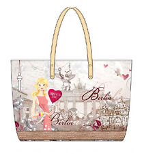 Robin Ruth Borsa Berlino Look Vintage Nuovo/Scatola Originale a Tracolla CITY SHOPPER BAG XL