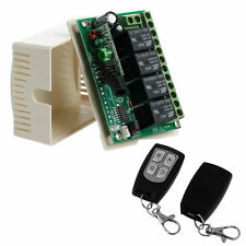 Remote Control Wireless DC 12V 4CH 315MHz Relay Switch 2 Transceiver + Receiver
