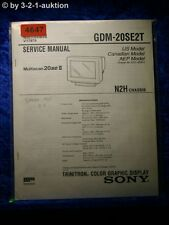 Sony Service Manual GDM 20SE2T Color Graphic Display (#4647)