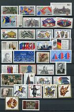 GERMANY 1989 MNH COMMEMORATIVES COMPLETE YEAR 35 Stamps
