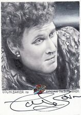 Blakes Blake's 7 Series 2 Ultra Rare Colin Baker / JD Seeber Auto Sketch Card