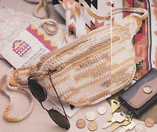Crochet Pattern ~ LADIES BELLY BAG POUCH Purse ~ Instructions