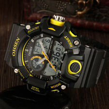 Mens G Sport Water Proof Shock Alarm Military Army Digital Wrist Watch Yellow