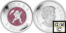 2013 Mother and Baby Ice Fishing Proof $5 Silver Coin with Niobium Insert(13227)