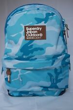 SuperDry True Montana School Teenagers collage Students BackPack Blue Army style