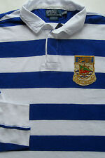 New $125 Polo Ralph Lauren Blue / White Striped Custom Fit Cotton Rugby / XL