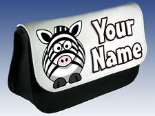 CUTE ZEBRA PERSONALISED LADIES / GIRLS KIDS MAKE UP BAG /PENCIL CASE /DS  *GIFT*