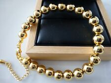 Ladies18k 18ct Gold Filled Ball Bracelet 8""
