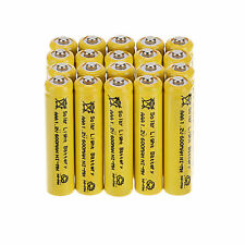 Popular 20Pcs AAA Solar Light Batteries Rechargeable 1.2V 600mAh NiMH For Lights