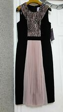 £180 JS Collections (House of Fraser) Dress. 6US 10UK 36EUR. Black & Pink. New
