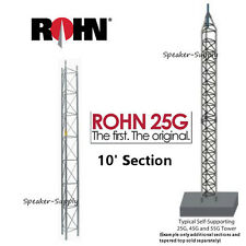 ROHN 25G 10' Steel Tower Section 25 Series Ham Dish Antenna Main ROHN25G