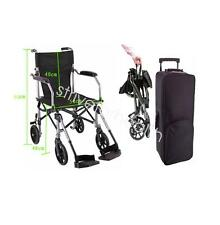 Aluminum alloy Fold Transport Chair Wheelchair 19.6'/50cm seat+carry bag USA New