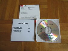 MARIAH CAREY Boy (I Need You) Remix GERMANY collectors acetate CD single + INFO
