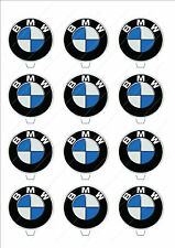 Novelty BMW Badge Stand Up Fairy Cake Cupcake Toppers Edible Wafer Birthday Logo