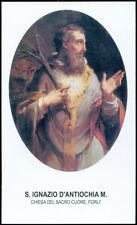 """santino-holy card""""S.IGNAZIO DI ANTIOCHIA M.-FORLI'"""