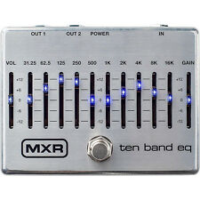 MXR M108S 10-Band Graphic EQ Guitar Bass Effects True Bypass Pedal Stompbox