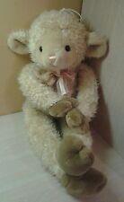 "Jumbo 34"" Easter Lamb Sheep Plush Cream Color stuffed animal toy"