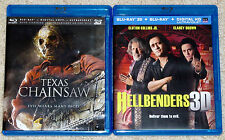 Horror Blu-ray 3D Lot - Hellbenders 3D (Used) Texas Chainsaw (Used)