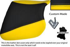 BLACK & YELLOW CUSTOM FITS KAWASAKI NINJA ZX9 R 94-97 FRONT LEATHER SEAT COVER
