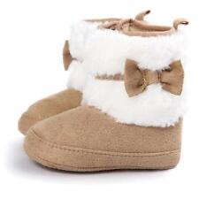 Newborn Kids Baby Girls Snow Shoes Winter Soft Sole Prewalker Crib Boots