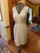 MOTHER OF THE BRIDE OR GROOM LIGHT SILVER GREY FORMAL LACE DRESS SIZE 12