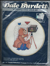 "Burdett Publications ""Smile"" Cross Stitch Embroidery Kit Camera /Bear Design NIP"