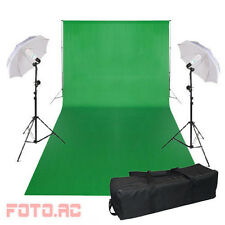 Hintergrund green screen Grün Fotostudioset Fotolampe Hintergrundsystem 3x6M