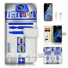 Samsung Galaxy S7 Flip Wallet Case Cover P0716 Starwars R2 D2