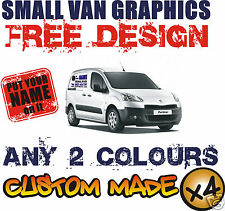 SMALL VAN CUSTOM VEHICLE GRAPHICS SIGN WRITING KIT DECALS STICKERS LETTERING