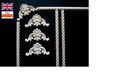 Set of1 METRO stampaggio a corda + 4 Angolo Applique shabby chic in legno Angolo Onlay