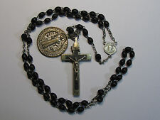 † GIFTEDPOWERFUL BLESSED PROTECT EVIL HUGE ST BENEDICT W/ PURCHSE OF ROSARY †
